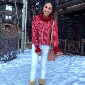 Red & White Sweater